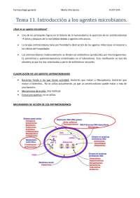 Tema 11. Introducción a los agentes microbianos