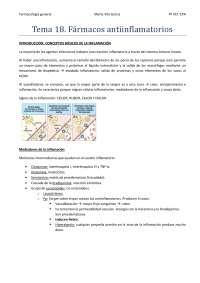 Tema 18. Fármacos antiinflamatorios