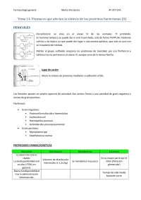 Tema 14. Fármacos que afectan la síntesis de las proteínas bacterianas (II)