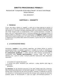 Riassunti Diritto Processuale Penale I Conso-Grevi-Bargis