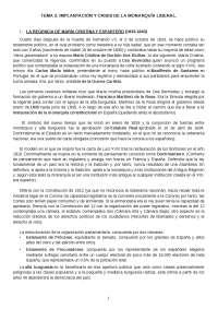 Tema 2. Historia Contemporánea de España