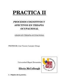 Efecto McCollough Practica II de procesos cognitivos