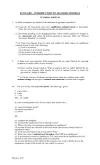 Tutorial sheet for finals revision