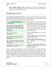Indirect TCP, Snooping TCP, Mobile TCP - Networking - Handouts