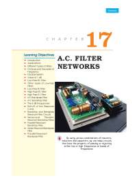 Ac filters notes related to electrical