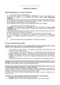 RIASSUNTO APPUNTI - STRATEGIE E POLITICHE AZIENDALI - MICHELE REA - UNICH - 2017