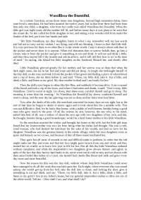 Wassillissa the Beautiful топики по зарубежной литературе на английском языке