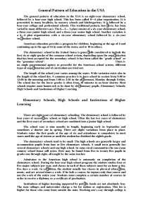 Education in the USA доклад по педагогике на английском языке