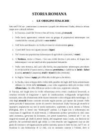 storia romana, riassunto dal testo di Guido Clemente, Guida alla storia romana