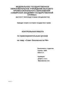 Служба безопасности РФ реферат по новому или неперечисленному предмету