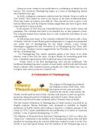 Thanksgiving Day топики по зарубежной литературе на английском языке