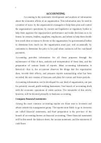 Accounting реферат по бухгалтерскому учету и аудиту на английском языке , Сочинения из Бухгалтерское дело