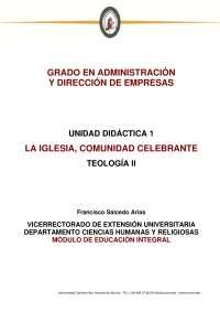 UNIDAD DIDÁCTICA 1, Apuntes de Teología