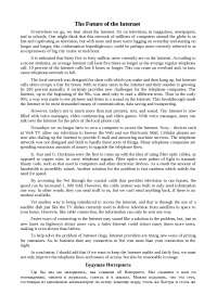 The Future of the Internet топики 2011 по зарубежной литературе на английском языке