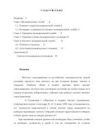 Муниципальная служба в субъекте РФ - особенности организации курсовая 2013 по муниципальному праву