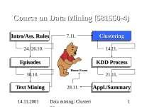 clustering  dataming