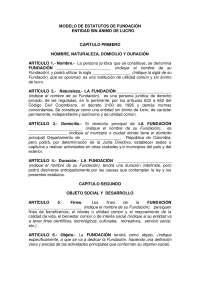 Modelo de estatutos fundación en Colombia