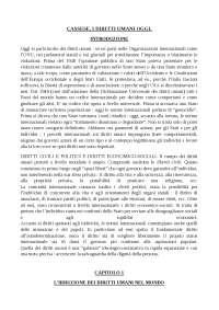 A.Cassese I DIRITTI UMANI OGGI Riassunto