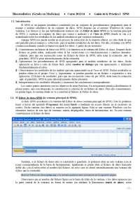 Practica de SPSS , manual de SPSS, curso de estadística , grado en medicina