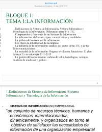 Resúmen completo de Sistema de Información