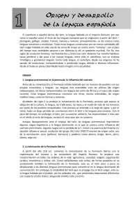 Origen y desarrollo de la lengua castellana