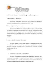 Técnicas de isolamento e transferência de microorganismos