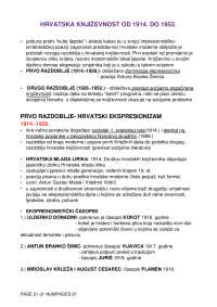 Skripta za ispit iz hrvatske moderne