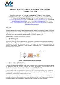 Análise de vibrações em um sistema de amortecimento