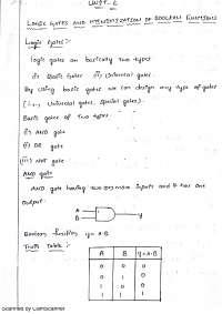 Digital Logic Design Unit 2