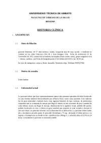 HISTORIA CLÍNICA DE NEFROLOGÍA