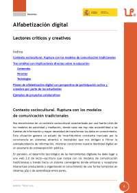 Alfabetización digital. Lectores críticos y creativos.