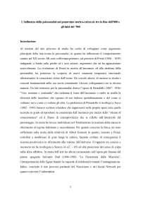 Tesina sull'influenza della psicoanalisi nel panorama storico-culturale tra la fine dell'800 e gli inizi del '900