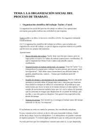 Tema 3. Organización social del proceso de trabajo