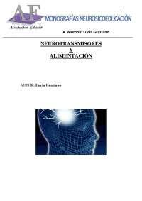 NEUROTRANSMISORES Y ALIMENTACIÓN
