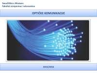 Optički prijemnici - uvod, način rada, karakteristike