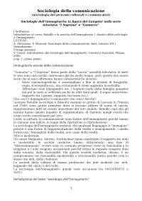 Sociologia della comunicazione prof. Mele