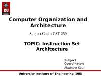 Computer architecture and 8086 architecture