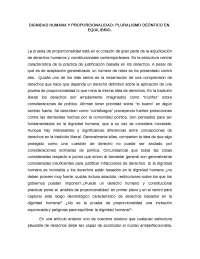 DIGNIDAD HUMANA Y PROPORCIONALIDAD: PLURALISMO DEÓNTICO EN EQUILIBRIO.