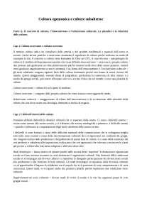 Cultura egemonica e culture subalterne, Alberto Cirese, Riassunti