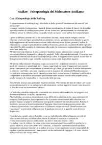 Stalker. Psicopatologia del molestatore assilante. Caretti, Craparo, Manzi, Schimmenti (2015) Fioriti Editore