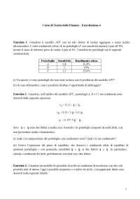 Teoria della Finanza (Asset Pricing) - Esercitazione 4