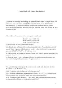 Teoria della Finanza (Asset Pricing) - Esercitazione 3