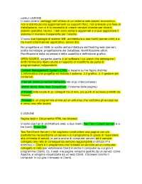 Appunti Sistema Web based