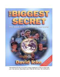 David Icke - The Biggest Secret -O Maior Segredo - em Portugues.parte1, Notas de estudo de Bioquímica
