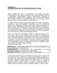 As bases Didáticas na aprendizagem no Futsal