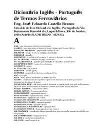 Dicionário Inglês Português de termos ferroviários