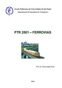 PTR 2501 - Ferrovias, Notas de estudo de Prototipagem e Ferramentas