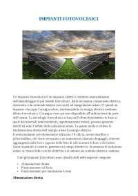 impianti fotovoltaici, tipologie e funzionamenti