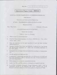Anna Univ Question Paper for EC6503