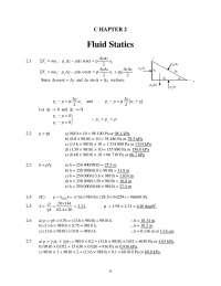 mechanics of fluids chapter 2